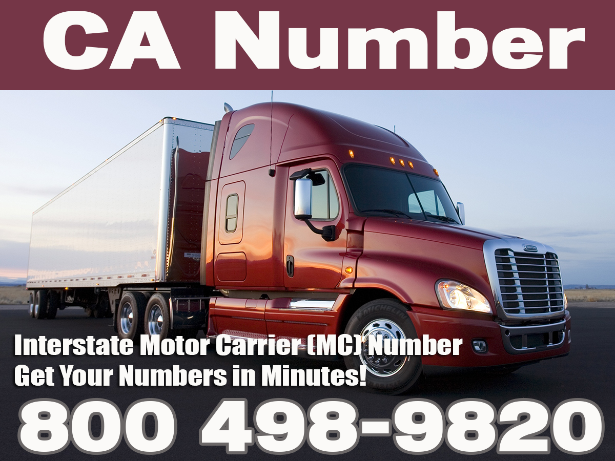 1 800 498 9820 california ca number for Motor carrier number lookup
