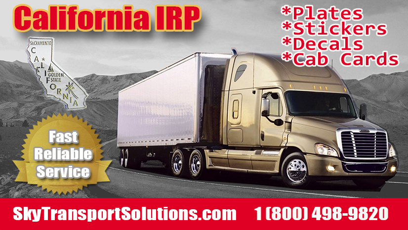 irp california plates decals cab cards stickers