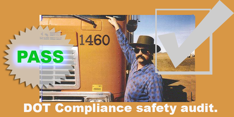 dot compliance pass checklist criteria