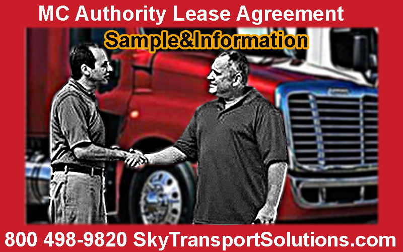MC Authority Lease Agreement