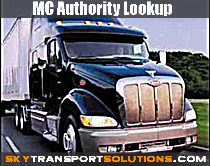 Mc Authority Lookup Don 39 T Lose Loads